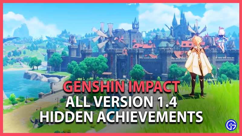 Genshin Impact Hidden Achievements