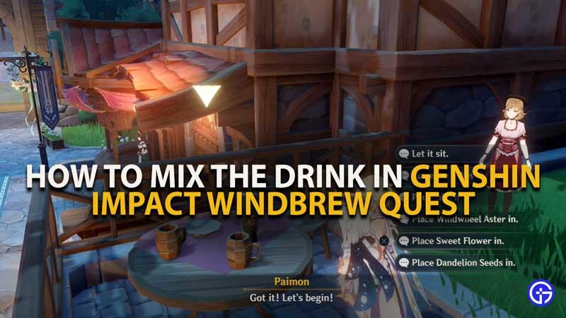 Genshin Impact Windbrew Quest