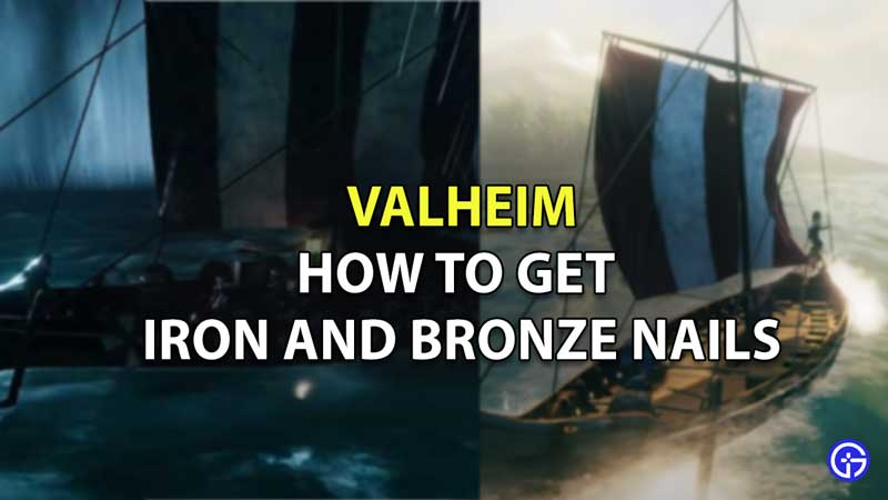 how to get iron and bronze nails valheim