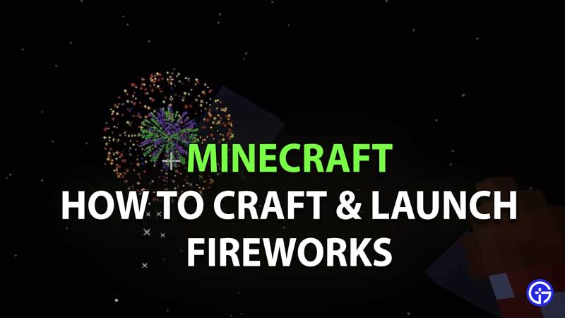 How To Make A Firework Rocket In Minecraft