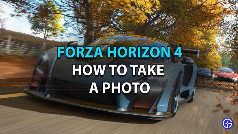 How to Take a Photo in Forza Horizon 4