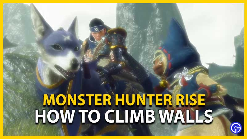 Monster Hunter Rise Climb Wall