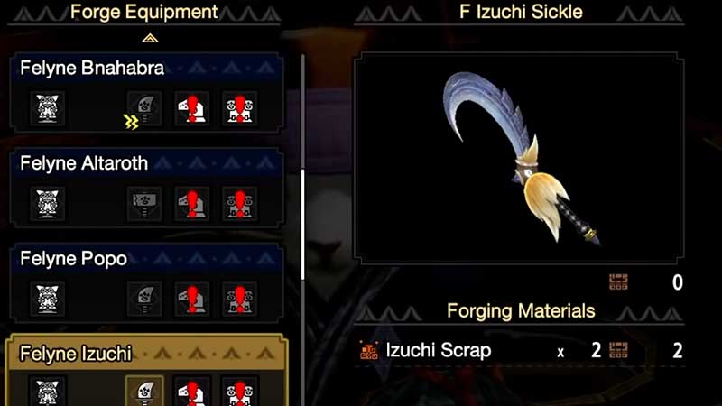 how to get Scrap for Palico Palamute Weapons & Armor