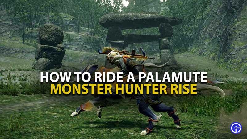 Monster Hunter Rise Palamute Guide