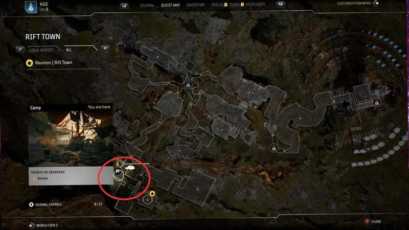 Outriders Camp Base Location