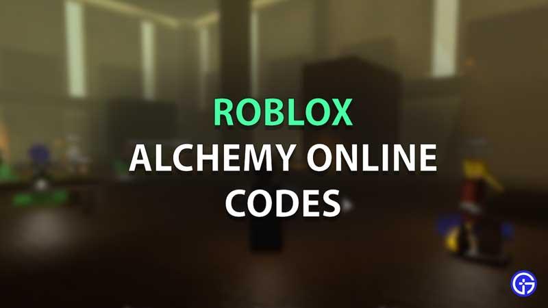 Roblox Alchemy Online Codes