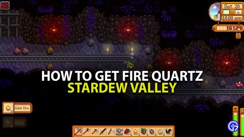 Stardew Valley Fire Quartz Guide