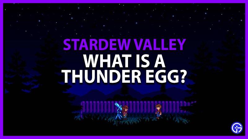 Stardew Valley Thunder Egg