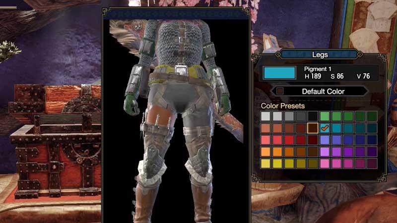 Monster Hunter Rise Armor Pigment