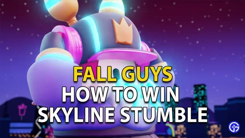 How to win in Skyline Stumble in Fall Guys