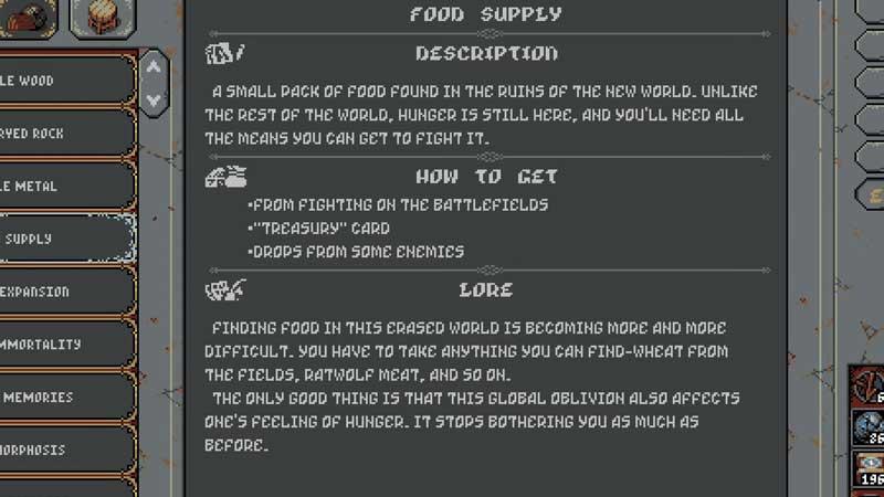 how to get food in Loop Hero