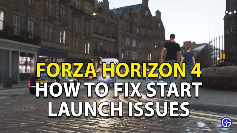 Start Launch Fix for Forza Horizon 4