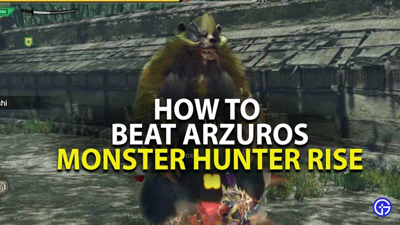 how to beat arzuros in monster hunter rise