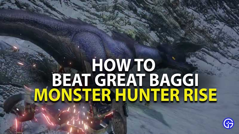 how to beat great baggi in monster hunter rise