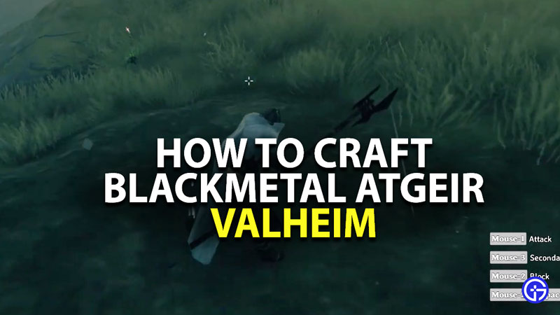 how to craft blackmetal atgeir in valheim
