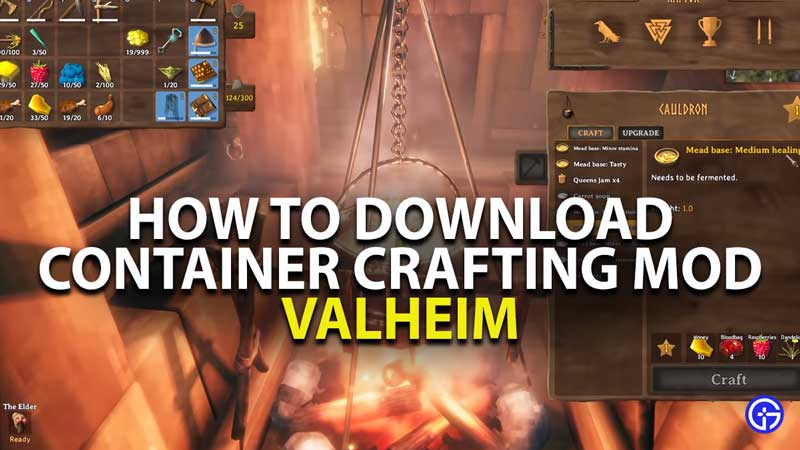how to download and install container crafting mod in valheim