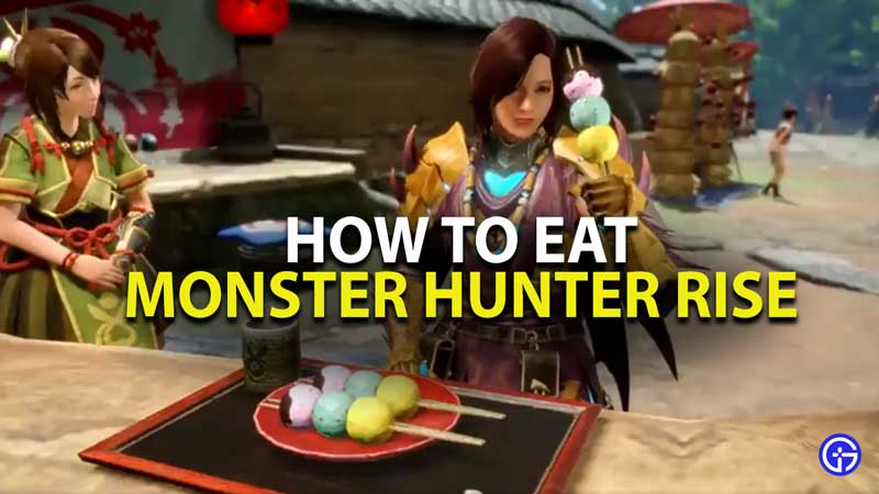how to eat in monster hunter rise