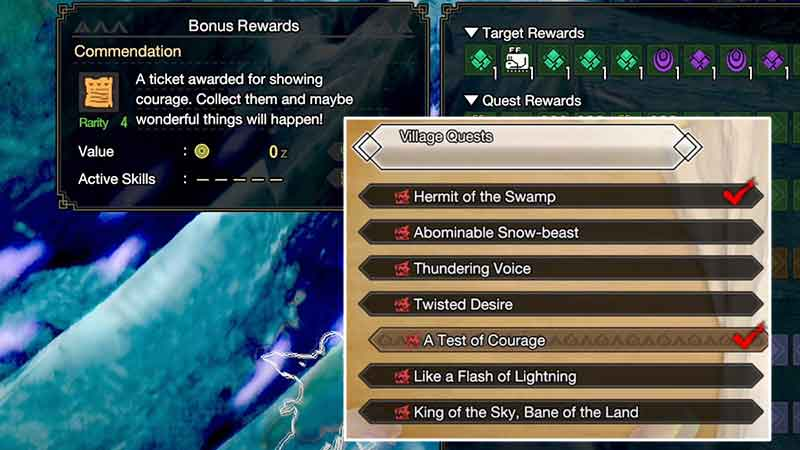 how to get use commendation tickets monster hunter rise (MHR)