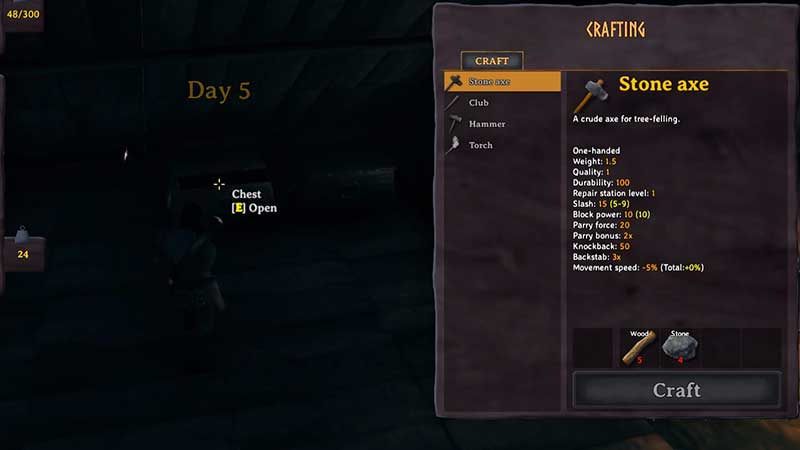 how to open crafting menu