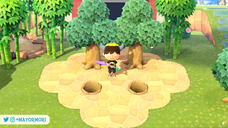 how to plant trees path in animal crossing new hhorizons