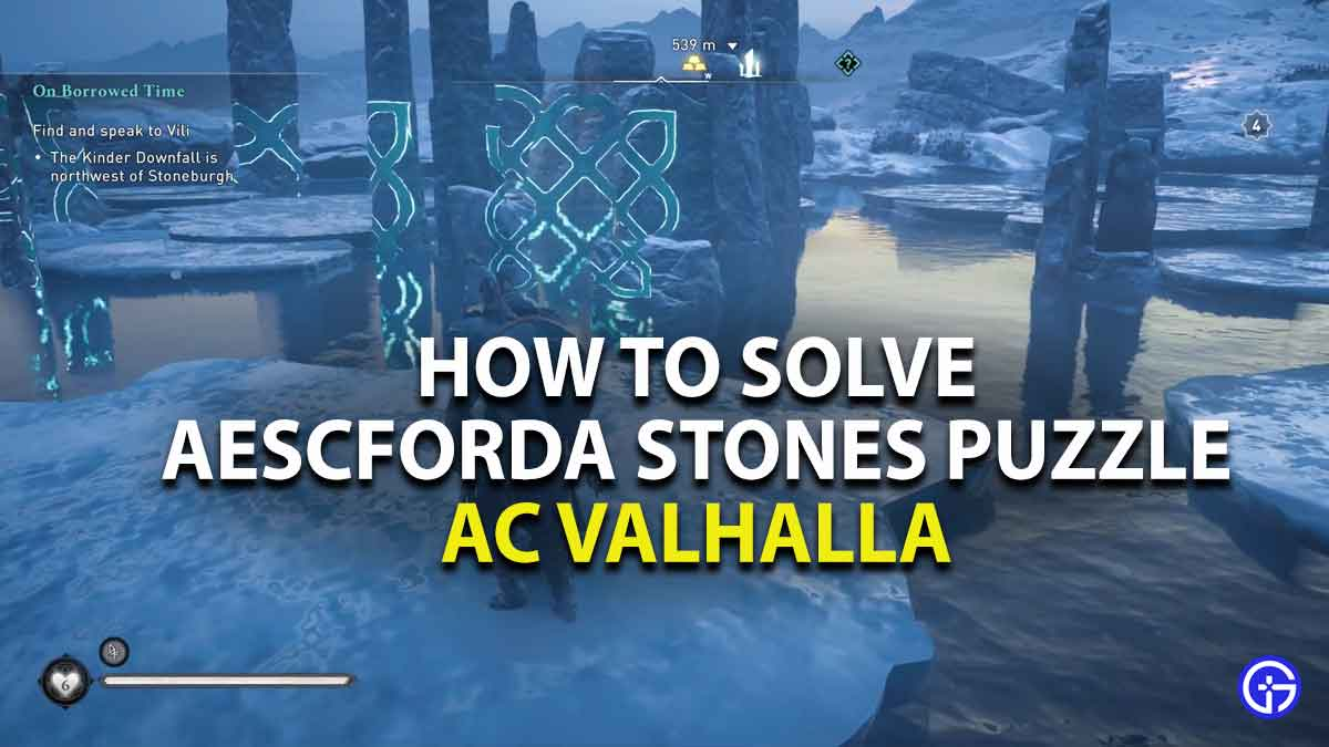 how to solve aescforda standing stones puzzle in assassins creed valhalla