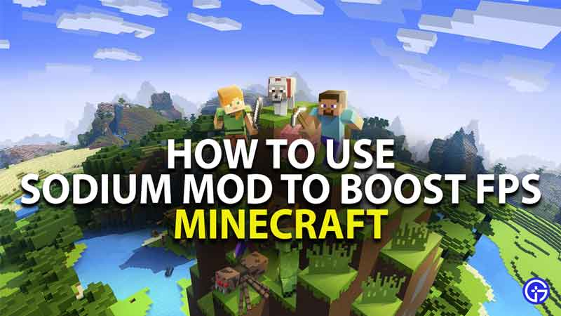 how to use sodium mod to boost fps in minecraft