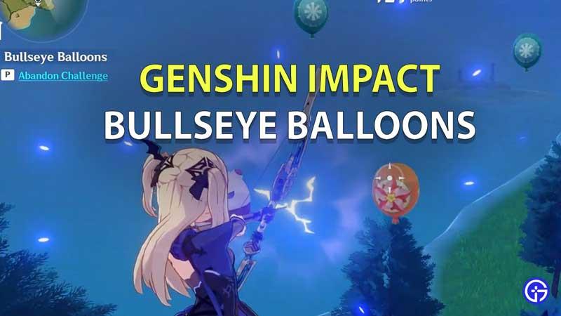 how to win and get high score in Bullseye Balloons genshin impact