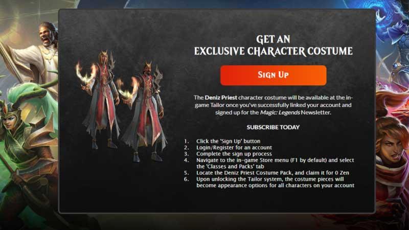Magic Legends Signup Rewards