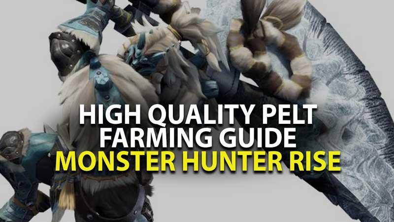 Monster Hunter Rise Pelt Farming