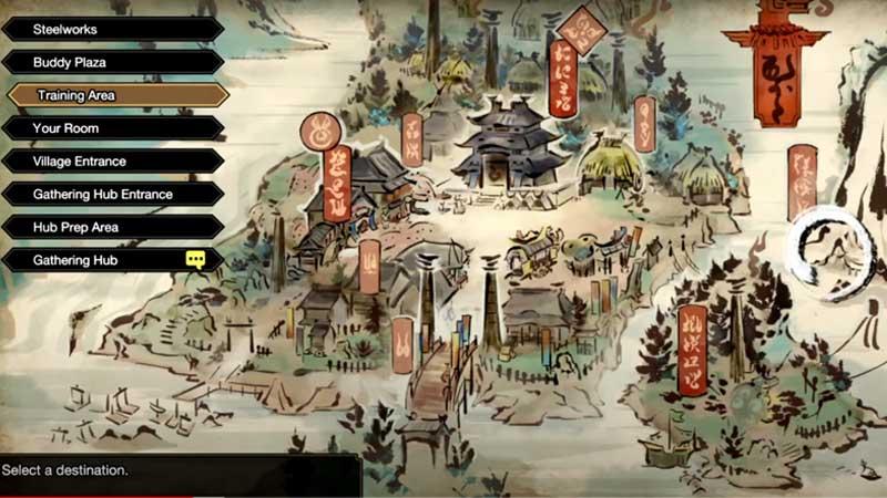 Monster Hunter Rise Buddy Plaza