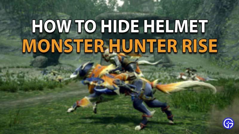 How to hide your helmet in Monster Hunter Rise