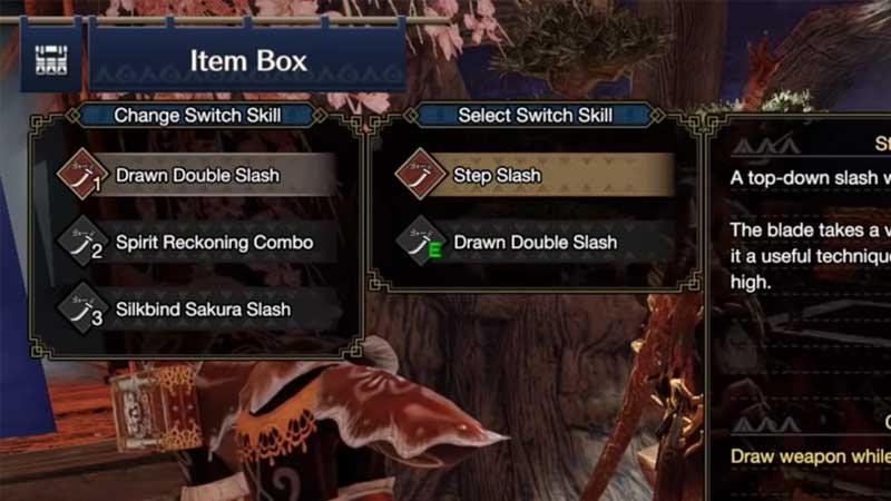 Monster Hunter Rise Switch Skills