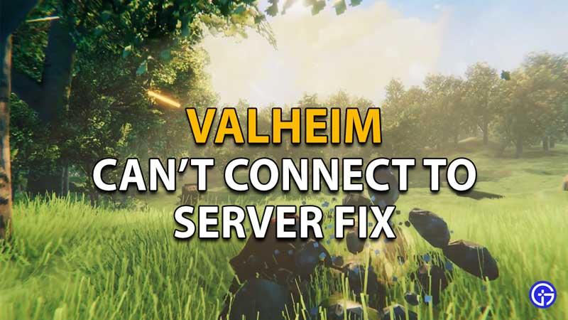 Valheim can't connect to server problem fix