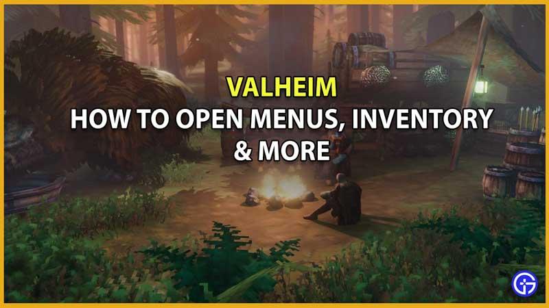 valheim how to open menu map