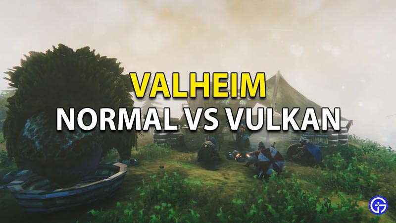 The difference between the Normal and Vulkan mode in Valheim