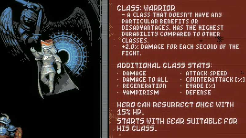 What is the Warrior Class in Loop Hero