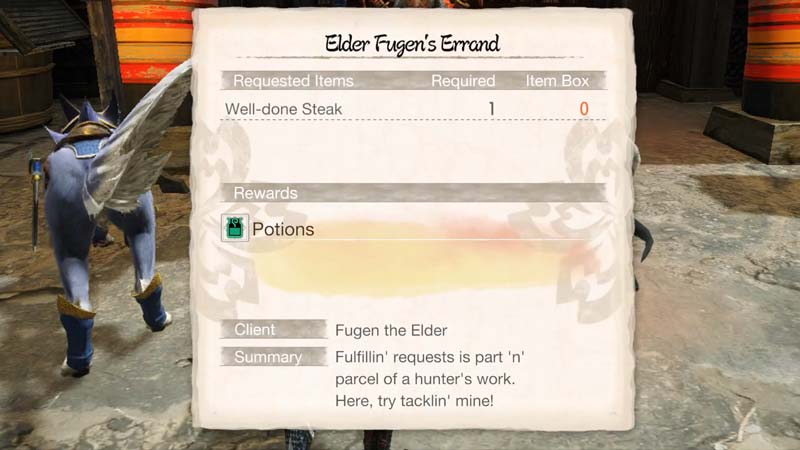 complete the Well Done Steak Request in Monster Hunter Rise