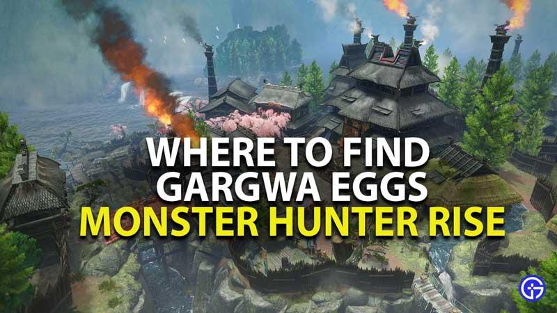 where to find gargwa egg in monster hunter rise