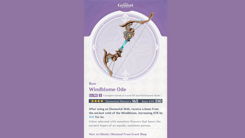 how to get the windblume ode in genshin imact