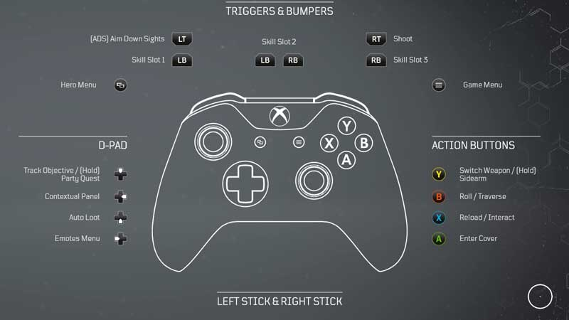 Outriders Xbox Controls Option