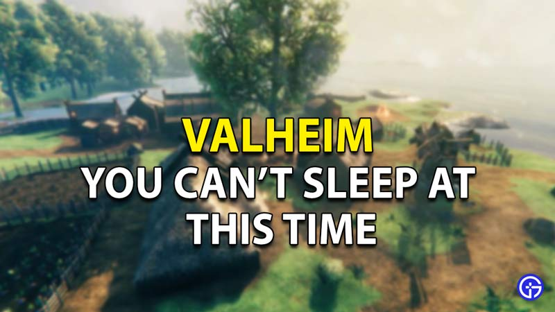 Valheim You Can't Sleep At This Time