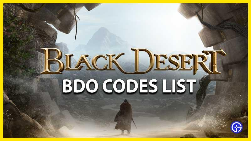 Black Desert Online BDO Codes