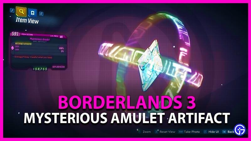 Borderlands 3 Director's Cut Mysterious Amulet Artifact