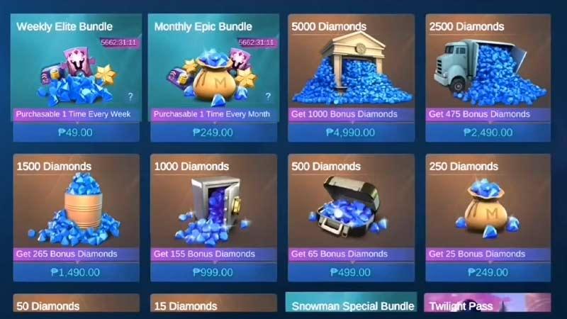 Buy Diamonds Mobile Legends