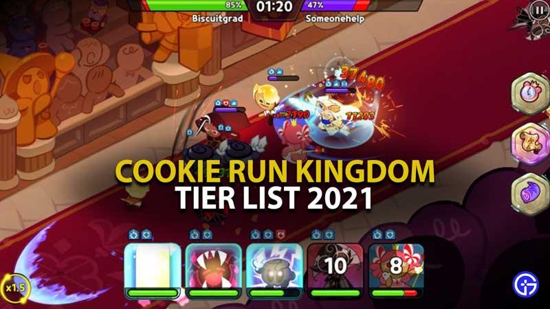 Cookie Run Kingdom Tier List 2021