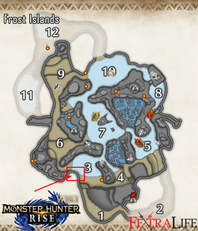 Frost Islands Speartuna Map