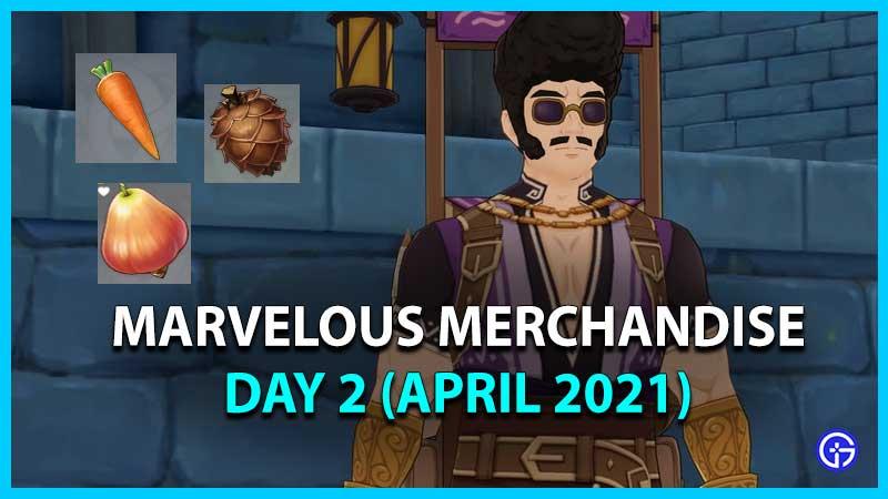 Genshin Impact Marvelous Merchandise Day 2 Item Locations (April 2021)