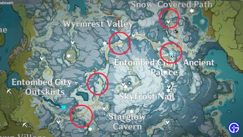 Genshin Impact Pine Wood Locations on Map