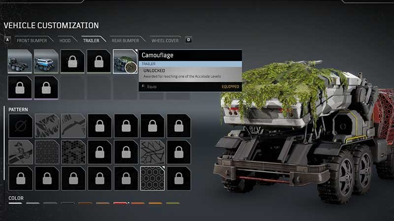 how to customize truck or vehicle in Outriders