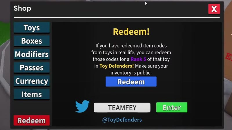 How to Redeem Toy Defenders Codes Roblox